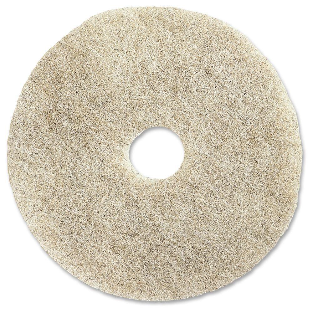 Genuine Joe 20 in. Natural Soft Binder Floor Pad (5 per Carton) -  GJO92220
