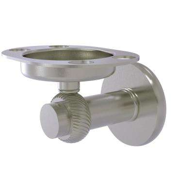 Mercury Collection Tumbler and Toothbrush Holder with Twisted Accents in Satin Nickel