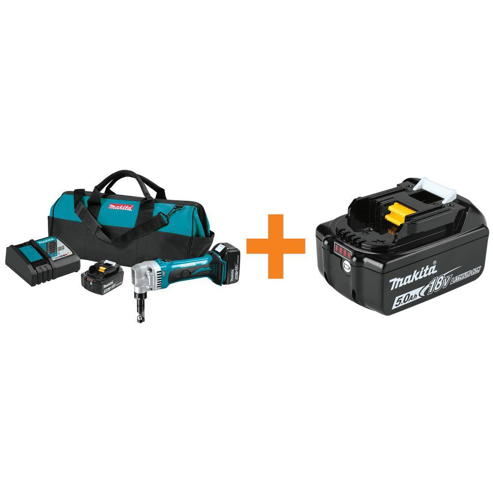 18-Volt 5.0Ah LXT Lithium-Ion Cordless 16-Gauge Nibbler Kit with Bonus 18-Volt LXT Lithium-Ion Battery Pack 5.0Ah
