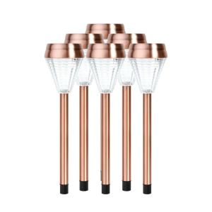 Ecothink Copper Outdoor Integrated LED Landscape Path Light (Set of 6) by Ecothink