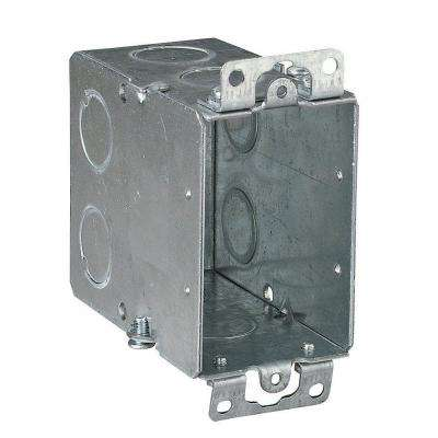 1-Gang Old Work Metal Electrical Switch Box with Conduit Knockouts