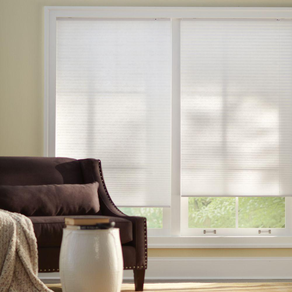 Home Decorators Collection Snow Drift 9/16 in. Light Filtering Cellular Shade - 34 in. W x 72 in. L (Actual Size 33.625 in. W x 72 in. L)