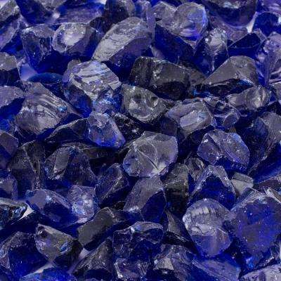 1/2 in. 25 lb. Medium Cobalt Blue Landscape Fire Glass