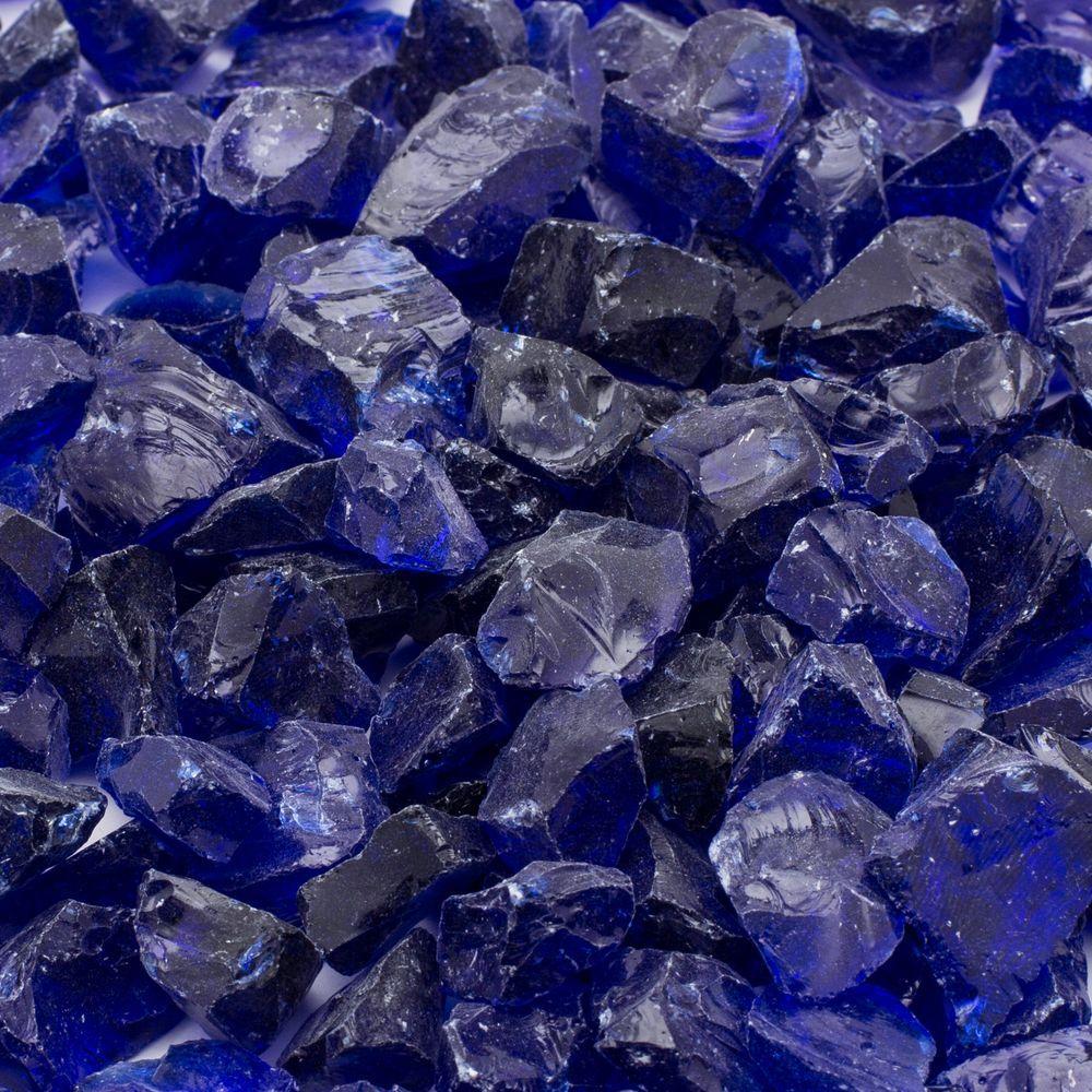1/2 in. 25 lb. Medium Cobalt Blue Landscape Fire Glass