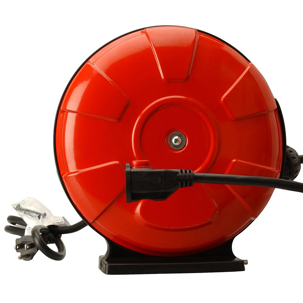 30 ft. 14/3 SJTW Retractable Cord Reel with Locking Plug