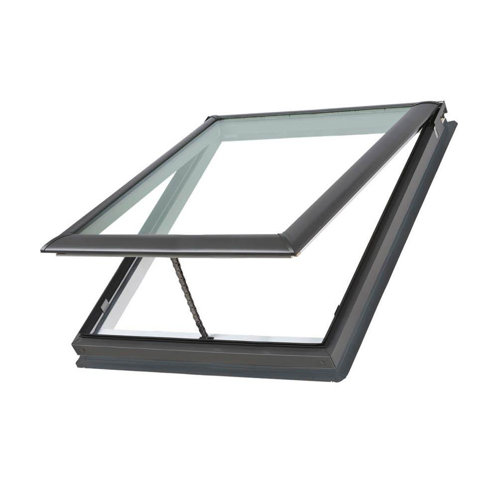 21 in. x 26-7/8 in. Fresh Air Venting Deck-Mount Skylight with