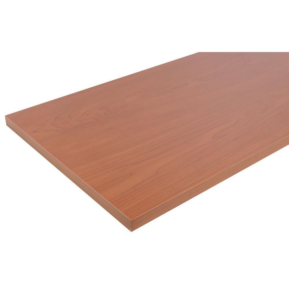 10 in. x 24 in. Cinnamon Laminated Wood Shelf with Satin