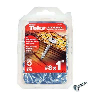 #8 x 1 in. Phillips Zinc-Plated Steel Truss-Head Lath Screws (170-Pack)