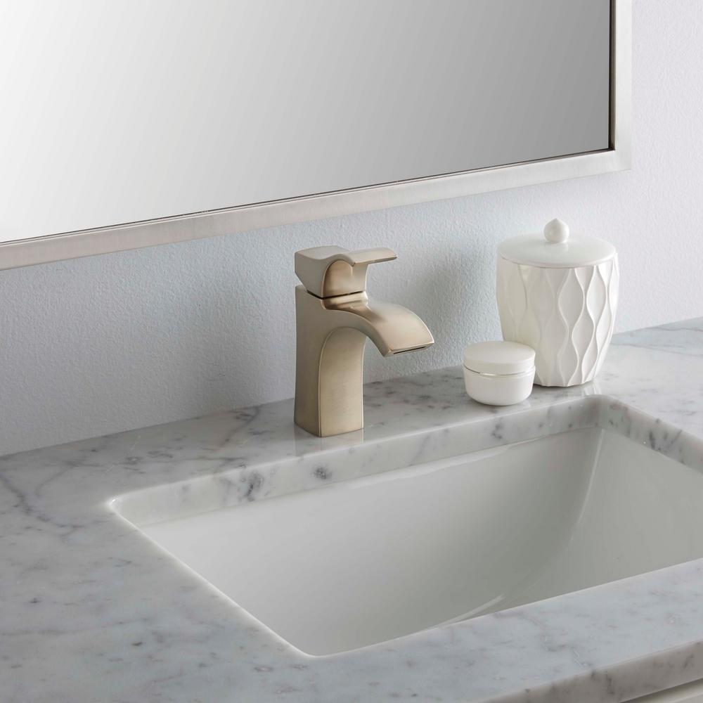 Venturi 4 in. Centerset Single-Handle Single-Hole Bathroom Faucet in Spot Defense Brushed Nickel
