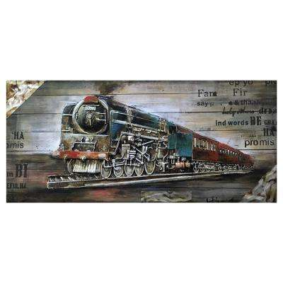 """Full Steam Ahead I"" by Unknown Artist Wood Wall Art"