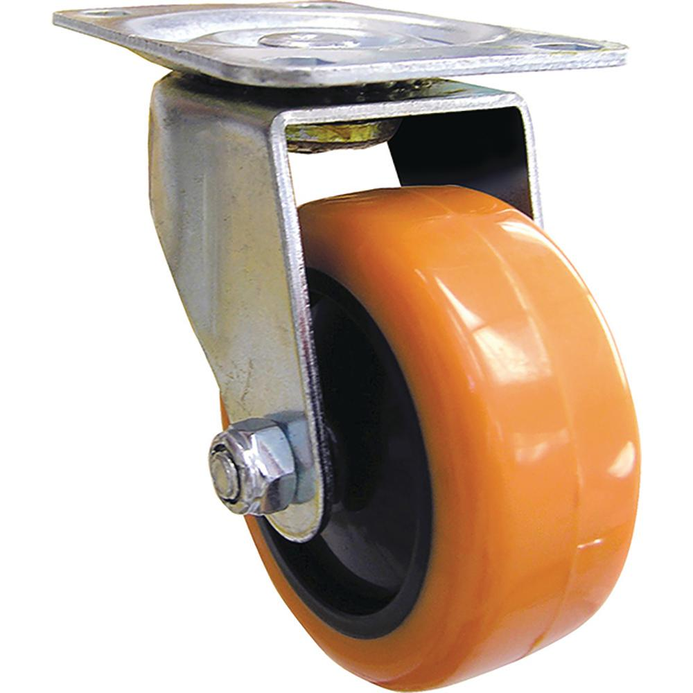 3 in. Orange TPU Swivel Caster with 225 lb. Load Rating