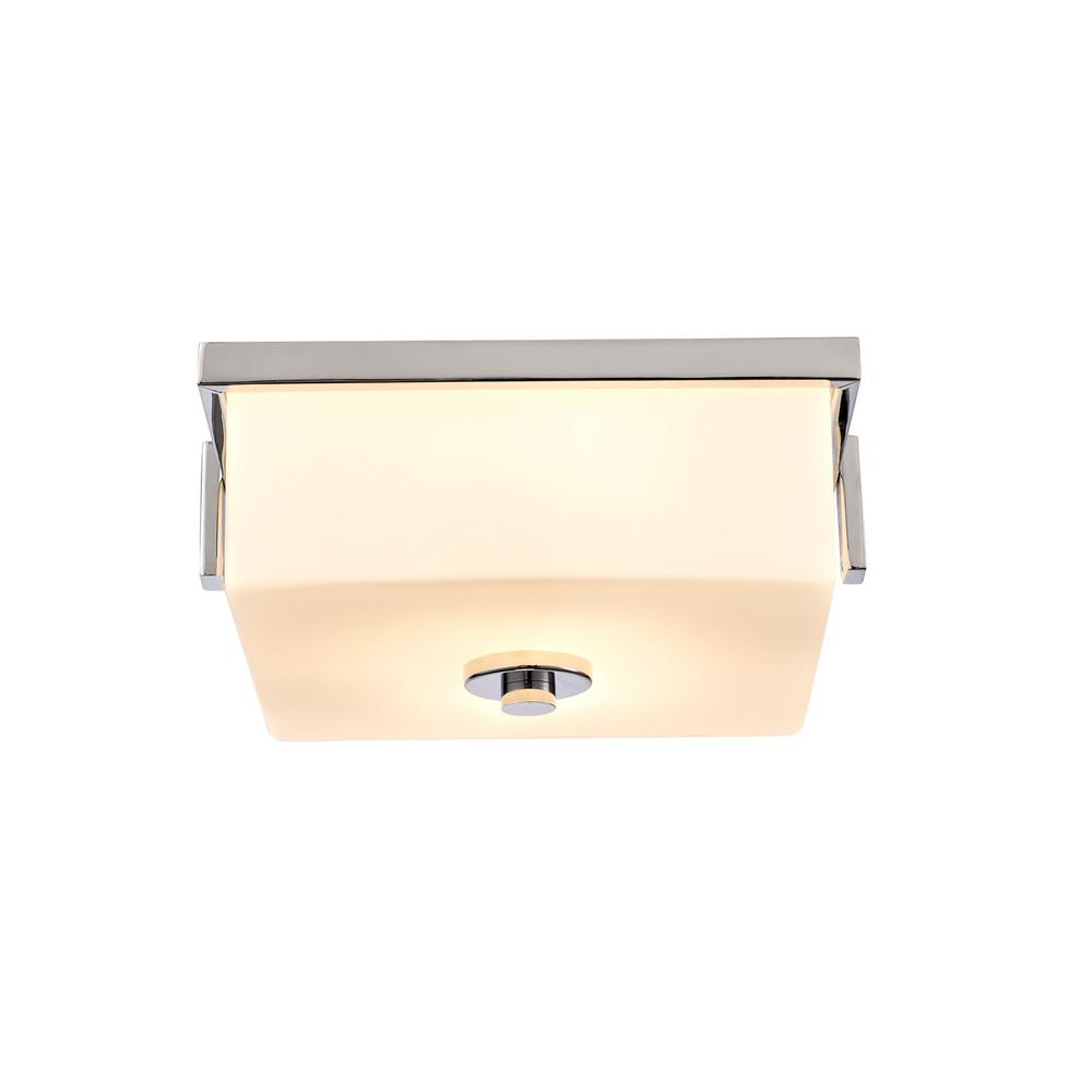 Design House Karsen 2-Light Polished Chrome Flush Mount