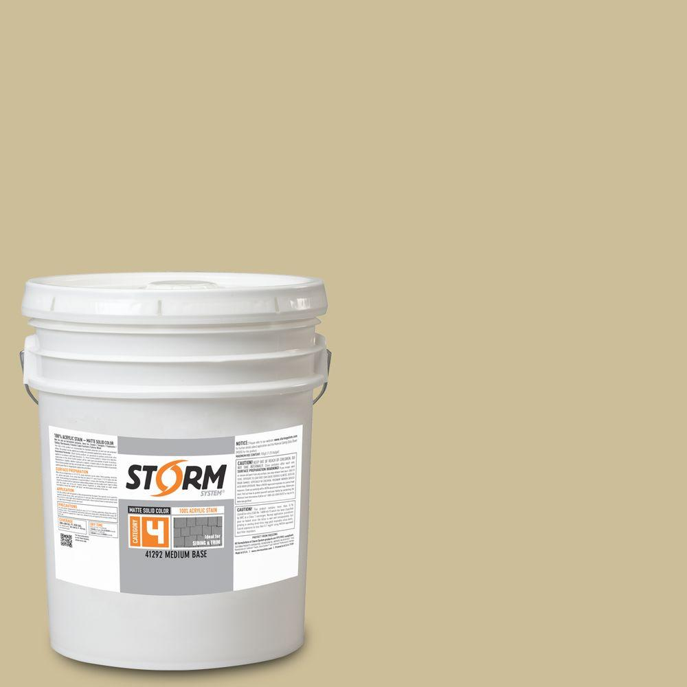 Wood Stain Dusk: Storm System Category 4 5 Gal. Sunset Beige Matte Exterior