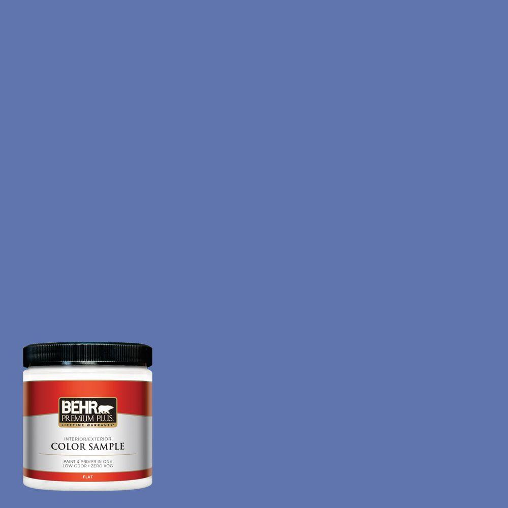8 oz. #600B-6 Sudden Sapphire Interior/Exterior Paint Sample