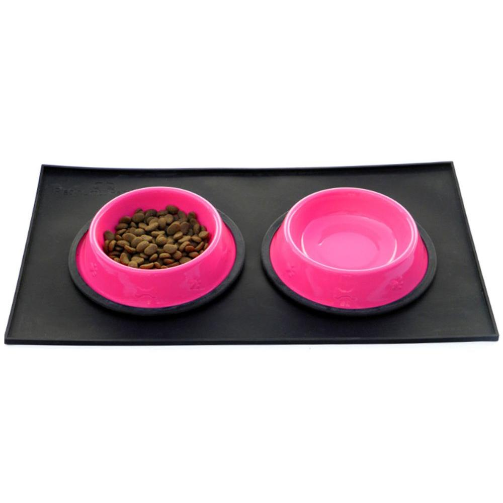 slip waterproof mat food pets placemat grade dog bowl non item pet blanket feeding cheap color mats pad silicone large cute dogs candy