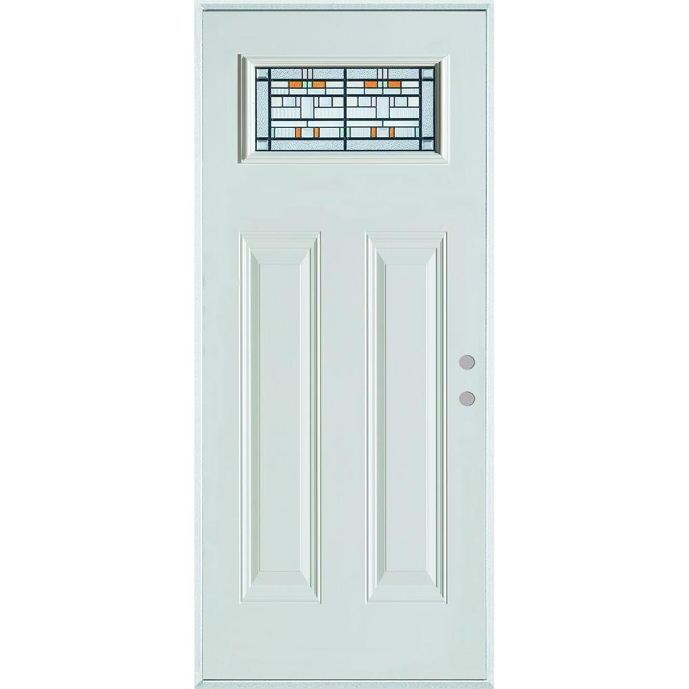 33.375 in. x 82.375 in. Architectural Rectangular Lite 2-Panel Painted White