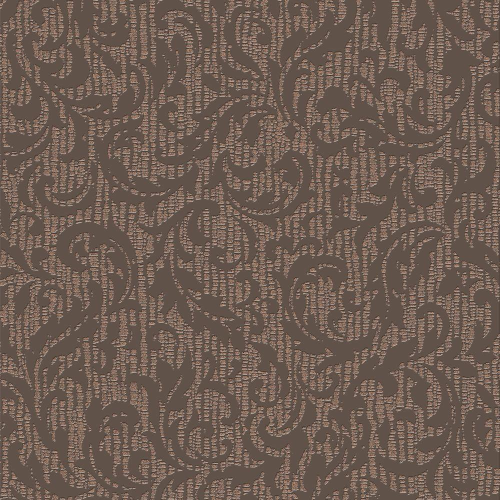 graham brown chocolate and bronze eternal wallpaper 33 289 the home depot. Black Bedroom Furniture Sets. Home Design Ideas