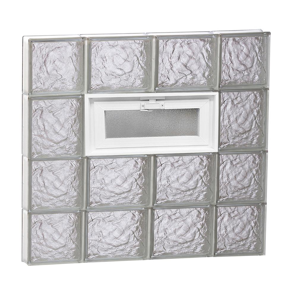 27 in. x 25 in. x 3.125 in. Frameless Ice Pattern