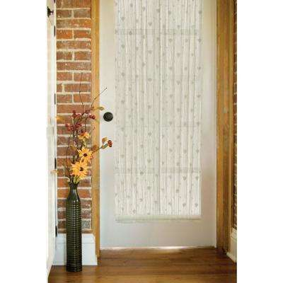 Semi-Opaque Bee 45 in. L Polyester Valance in White