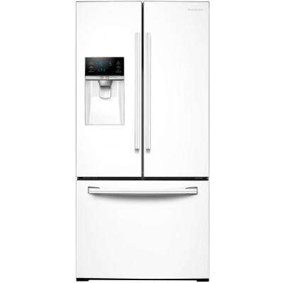 33 in. W 25.5 cu. ft. French Door Refrigerator in White