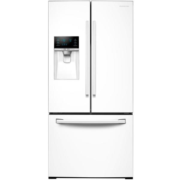 Samsung 33 in. W 25.5 cu. ft. French Door Refrigerator in White