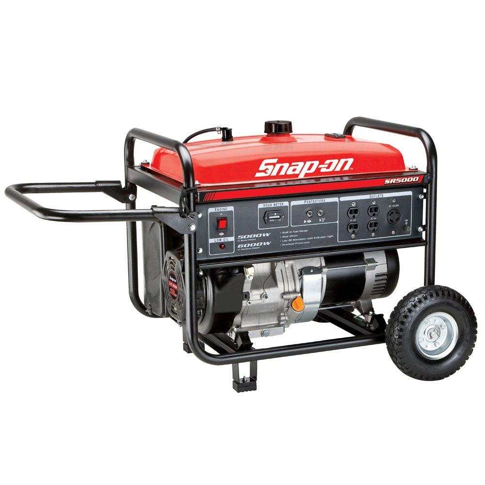Snap-on 5,000-Watt Gasoline Powered Portable Generator