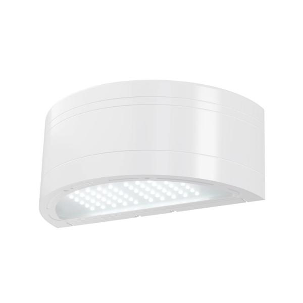 350-Watt Equivalent White Integrated Outdoor LED Wall Pack, 5130 Lumens, Dusk to Dawn Outdoor Security Light