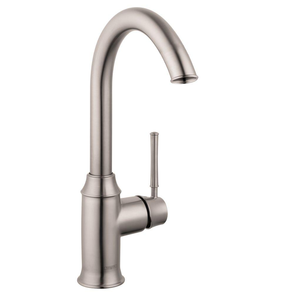 Hansgrohe Talis C Single-Handle Bar Faucet in Steel Optik-04217800 ...