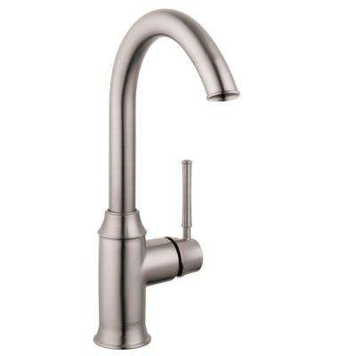 Talis C Single-Handle Bar Faucet in Steel Optik