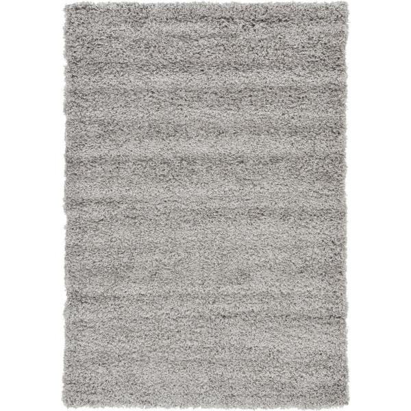 Solid Shag Cloud Gray 4 ft. x 6 ft. Area Rug