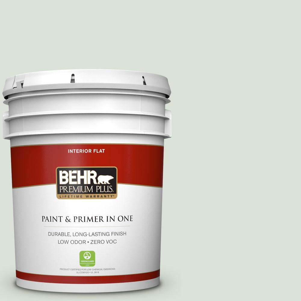 BEHR Premium Plus 5-gal. #N390-1 Light Mist Flat Interior Paint