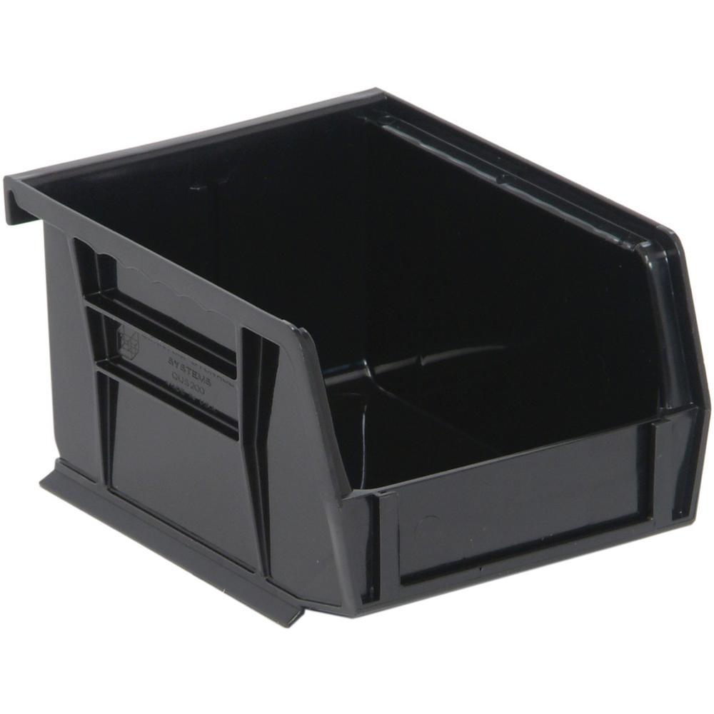 Ultra Series Stack and Hang 1 Gal. Storage Bin in Black (24-Pack)