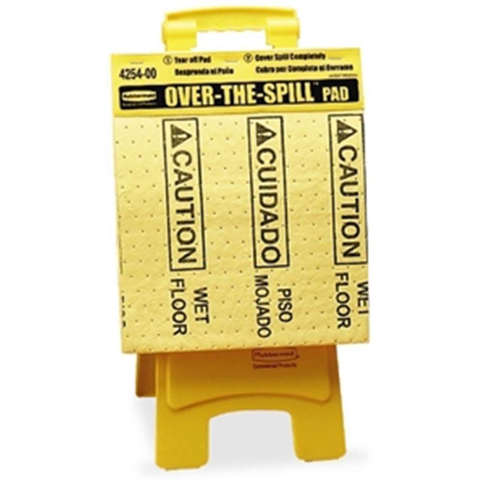 Rubbermaid Over-The-Spill Tablet Absorbant Pad Wet Floor Hazard Warning