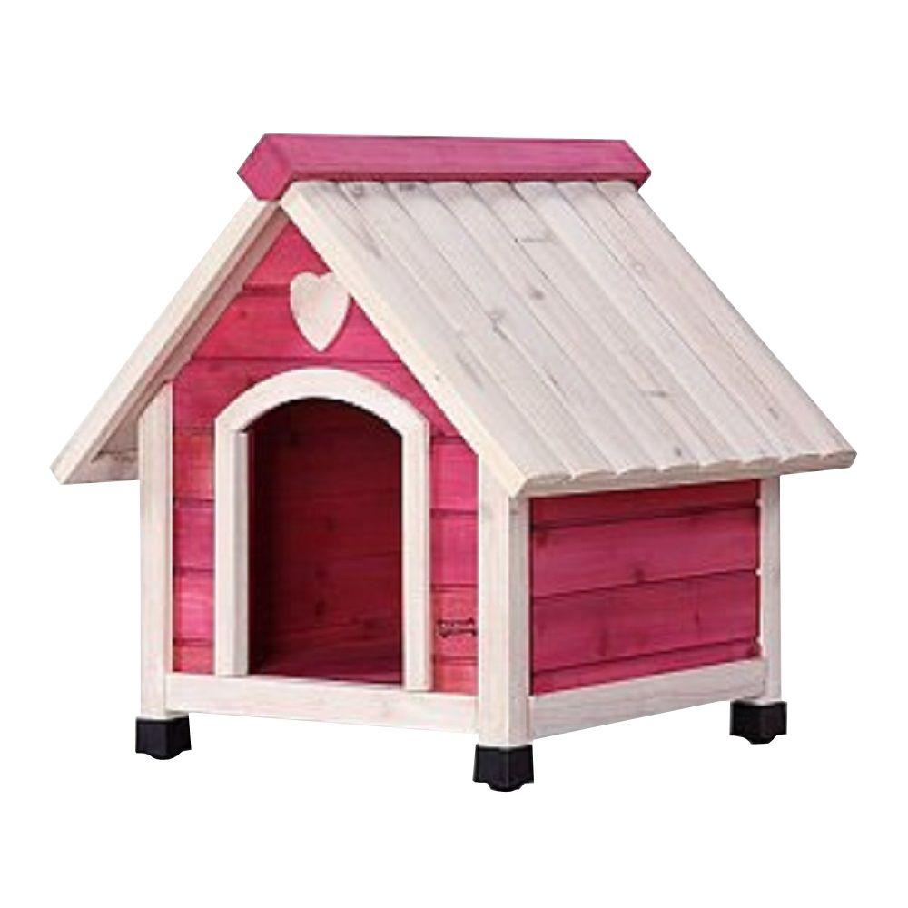 Pet Squeak 1.8 ft. L x 1.85 ft. W x 1.9 ft. H Arf Frame Pink Extra Small Dog House