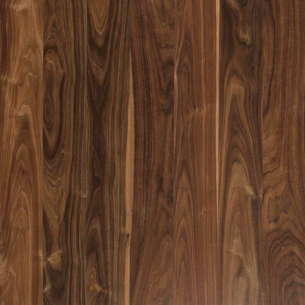 Deep Espresso Walnut Laminate Flooring - 5 in. x 7 in. Take Home Sample