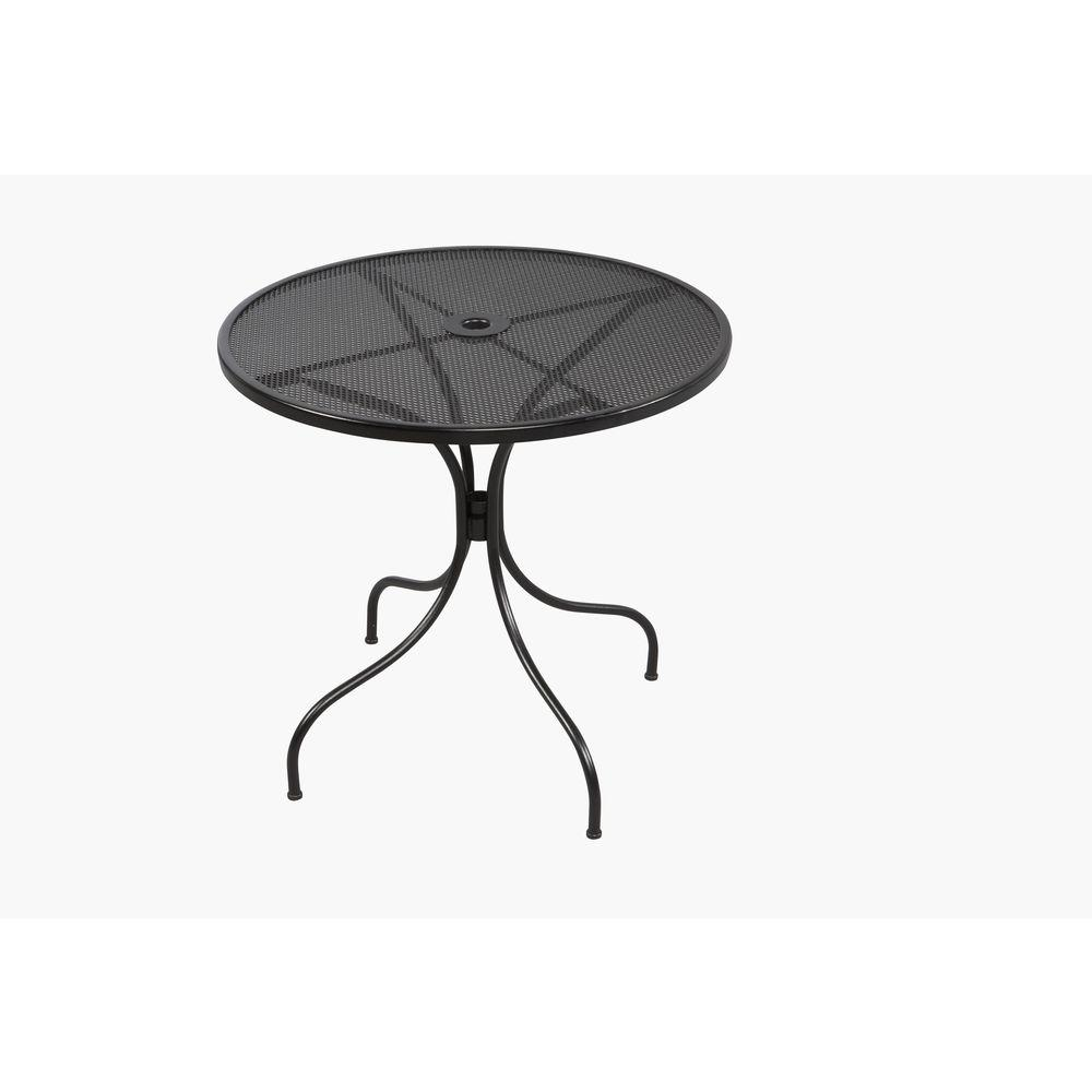 Hampton Bay Jackson 30 In. Round Patio Bistro Table 6330000 0105157   The  Home Depot