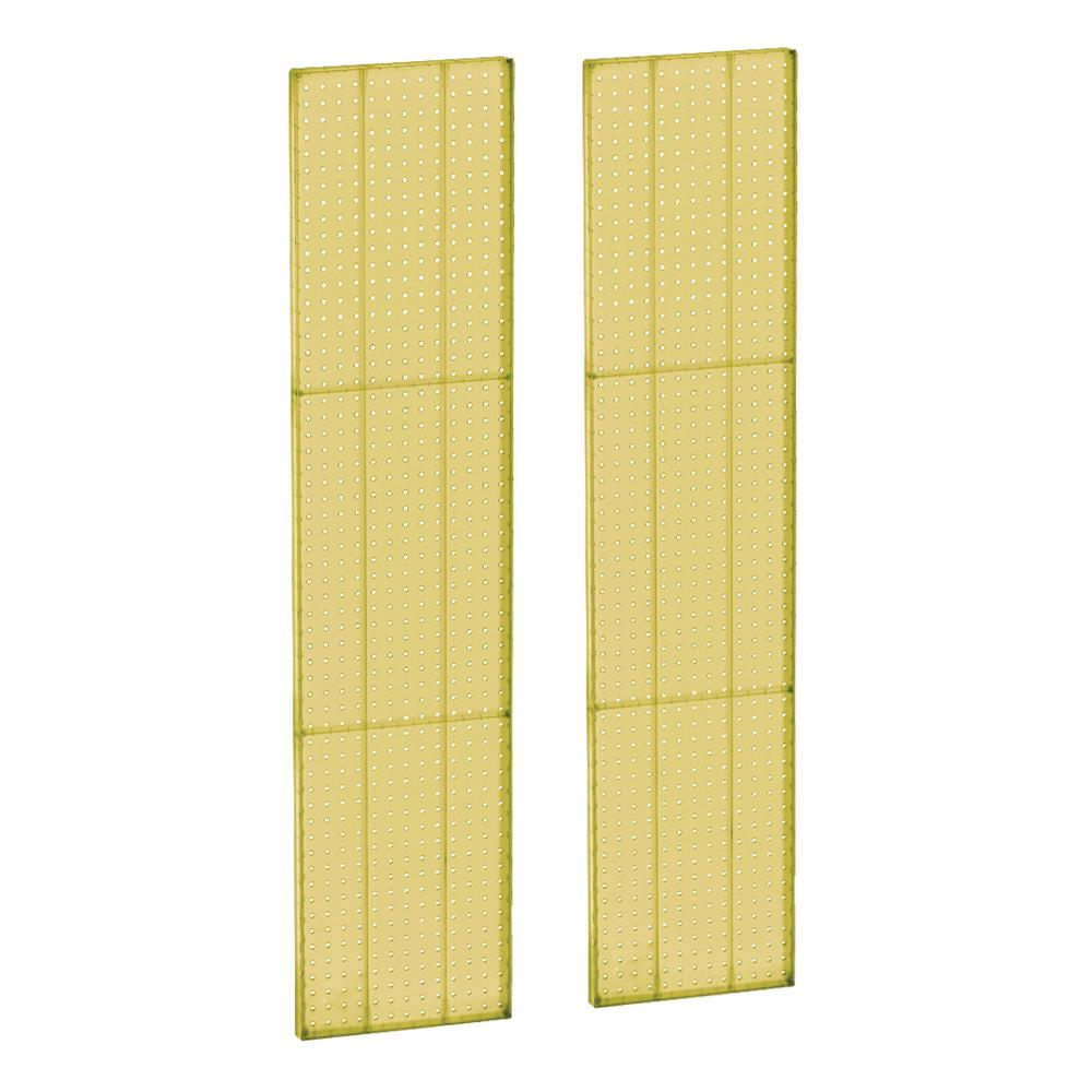 60 In H X 13 5 In W Pegboard Yellow Styrene One Sided Panel 2 Pieces Per Box 771360 Yel The Home Depot