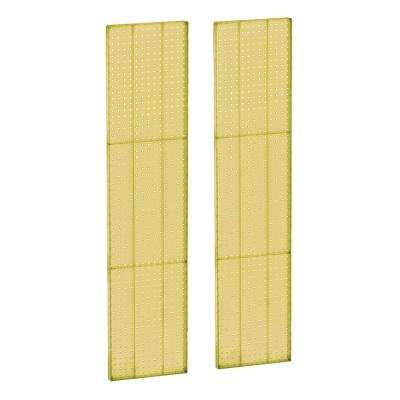 60 in H x 13.5 in W Pegboard Yellow Styrene One Sided Panel (2-Pieces per Box)