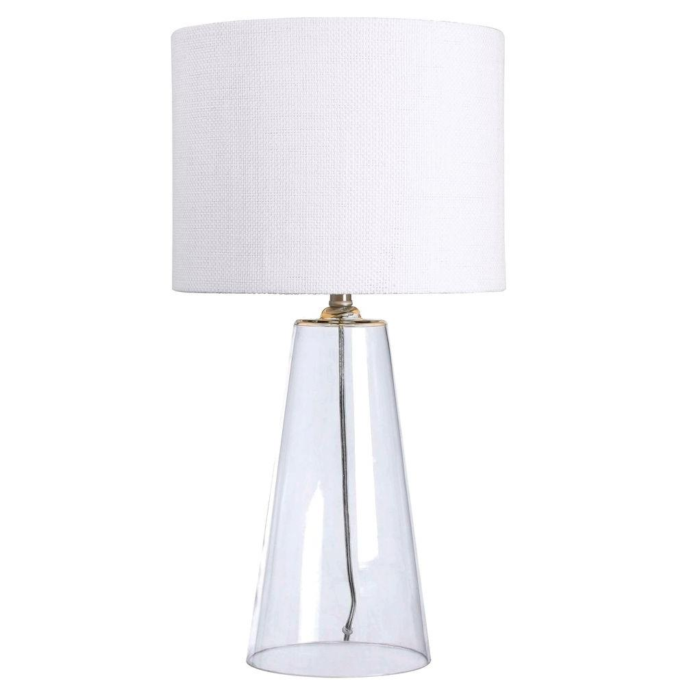Kenroy home boda 29 in clear glass table lamp 32062cl the home depot kenroy home boda 29 in clear glass table lamp mozeypictures Image collections