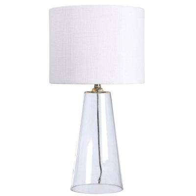 Boda 29 in. Clear Glass Table Lamp