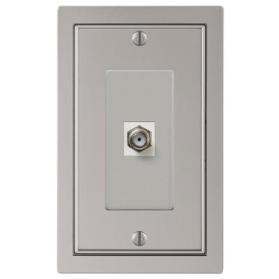 Averly 1 Gang Coax Metal Wall Plate - Satin Nickel