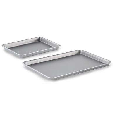 9 in. x 13 in. Brownie Pan & 12 in. x 17 in. Baking Sheet Nonstick Bakeware Set (2-Piece)