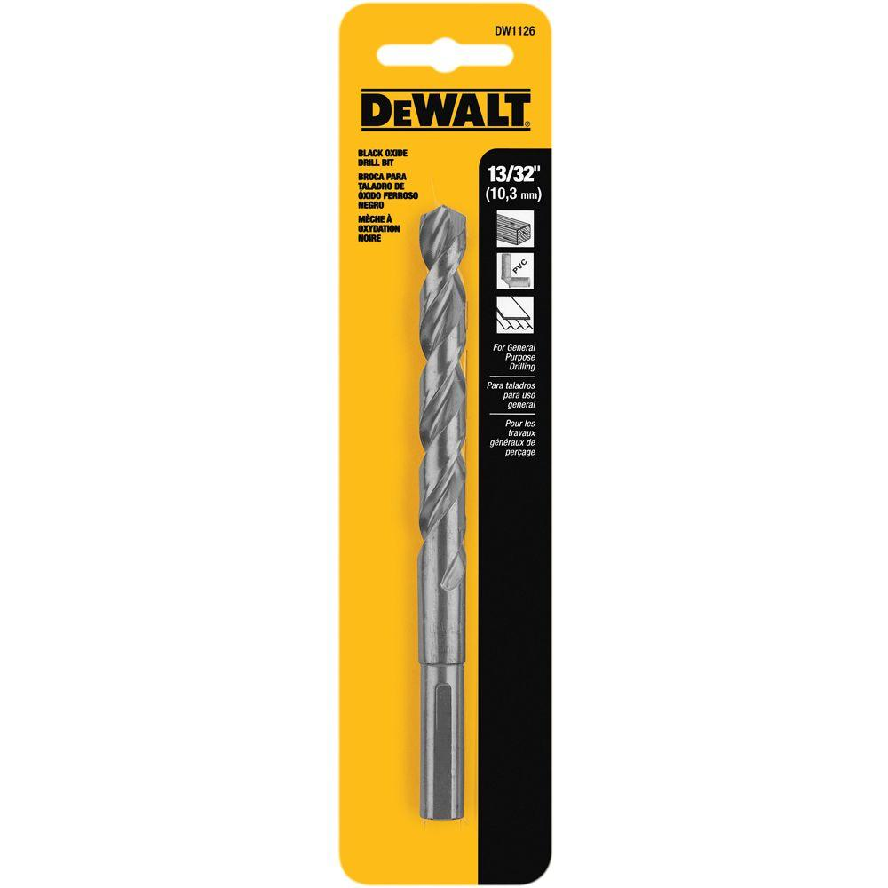 DEWALT 13/32 in. Black Oxide Split Point Drill Bit