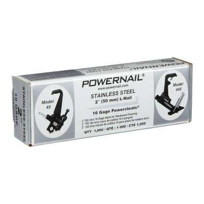 2 in. x 16-Gauge Powercleats Stainless Steel Hardwood Flooring Nails (1000-Pack)