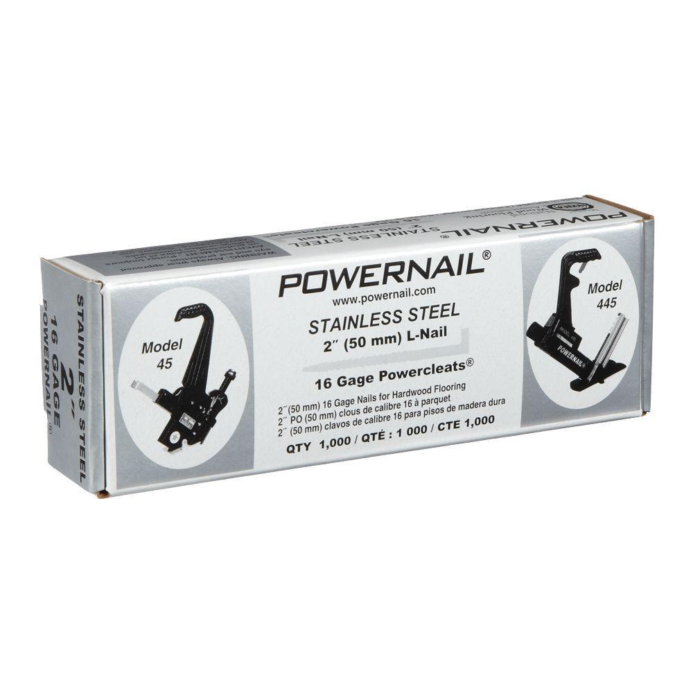 2 in. x 16-Gauge Powercleats Stainless Steel Hardwood Flooring Nails (1000-Pack)