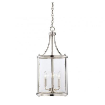 Kulfi 3-Light Polished Nickel Pendant