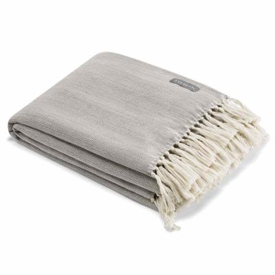 "Twill Fringe Cotton Charcoal 60in. L"" X 50in. W"" Throw"