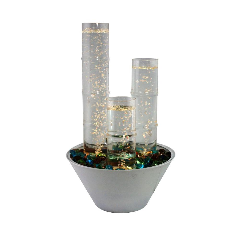Tabletop Water Fountain Part - 25: Alpine Water Bubble Table Top Fountain With LED Lights And Remote