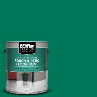 1 gal. #OSHA-2 SAFETY GREENLow-Lustre Interior/Exterior Porch and Patio Floor Paint