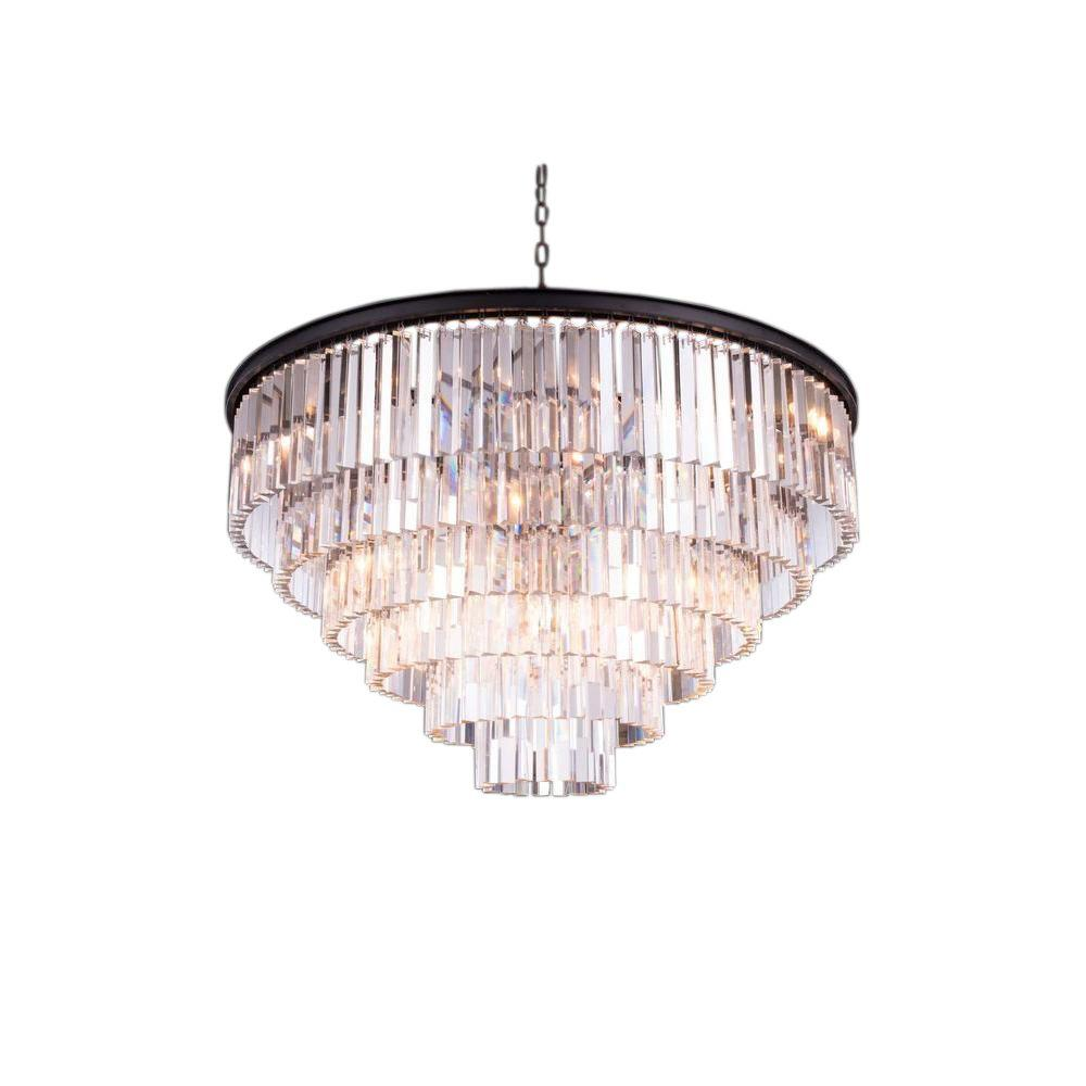 Elegant Lighting Sydney 33-Light Mocha Brown Chandelier